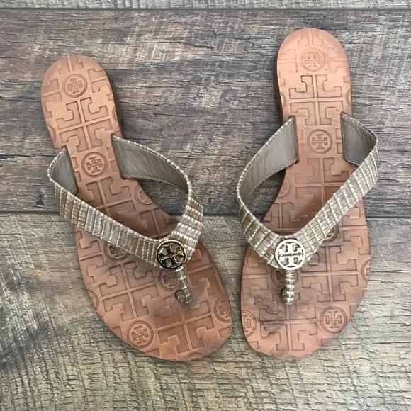3dfcf814d666 Tory Burch Shoes - Tory Burch Thora 2 Lizard Strap Sandals Flip Flops
